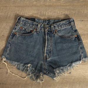 Medium wash Levi's Shorts